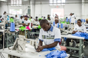 Haitian Employees at IRII Factory