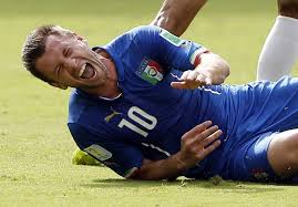 Italian Player on ground